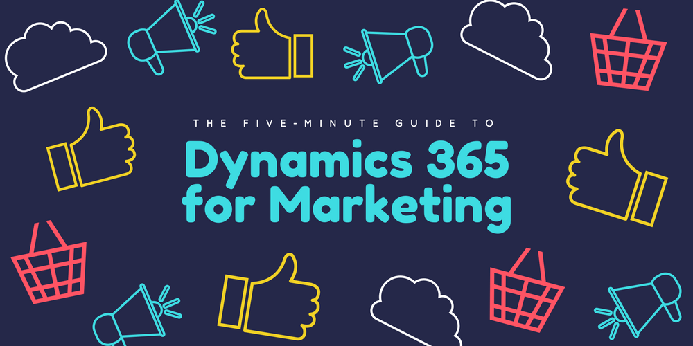 Header with icons illustrating features of Dynamics 365 for Marketing