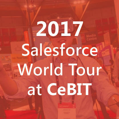 Salesforce world tour at cebit