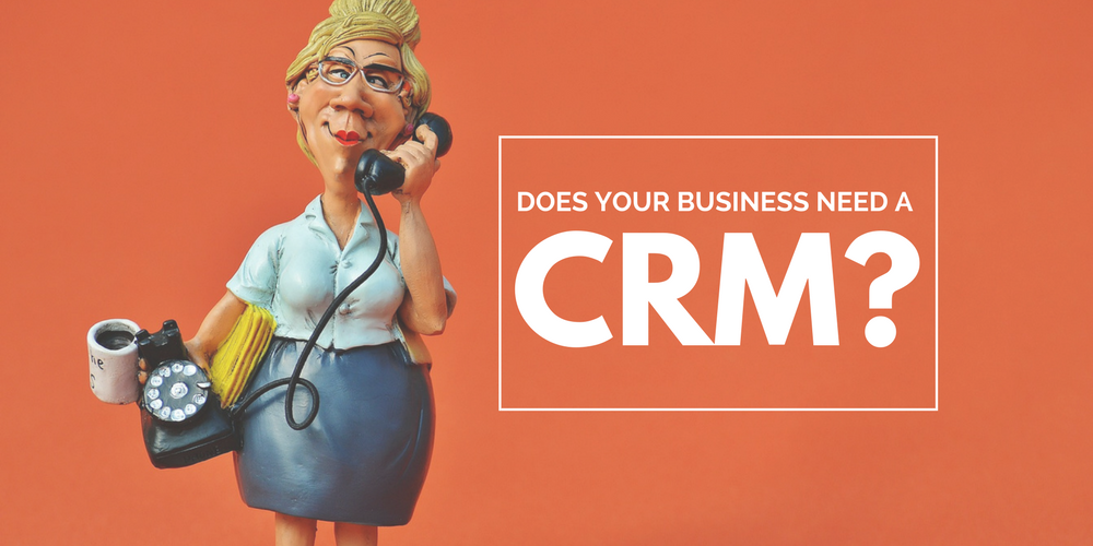 Woman on the phone who might use a CRM system